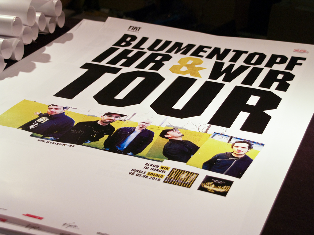 Blumentopf Tour Plakat